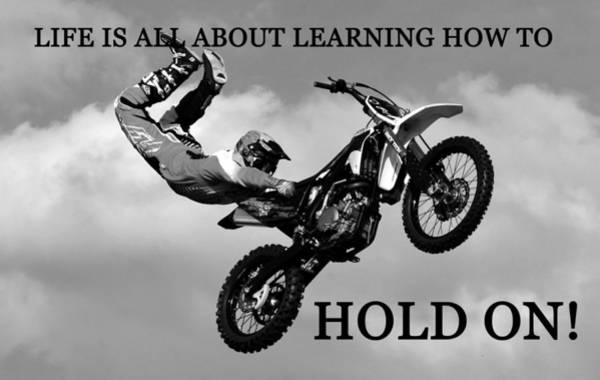 Dirt Bike Photograph - Life Hold On by David Lee Thompson