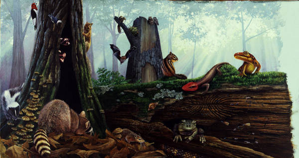 Wall Art - Painting - Life In A Dead Tree by Chase Studio