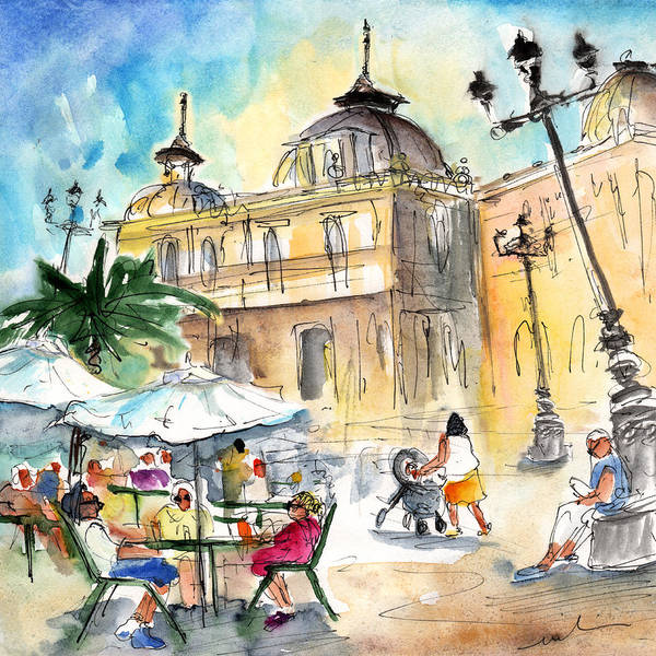 Murcia Painting - Life In Cartagena 02 by Miki De Goodaboom