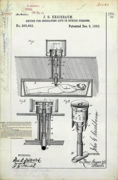 Life Indicator For Coffins Patent Art Print