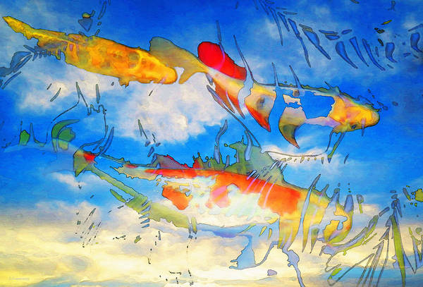 Floating Painting - Life Is But A Dream - Koi Fish Art by Sharon Cummings