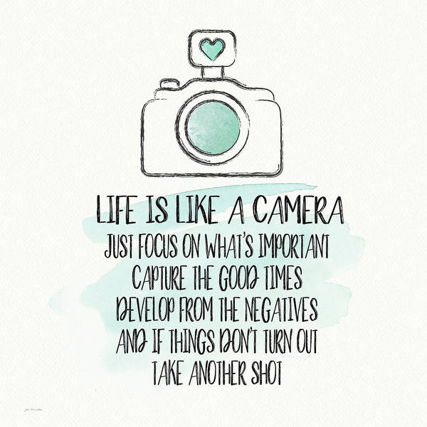 Camera Wall Art - Painting - Life Is Like A Camera by Jo Moulton