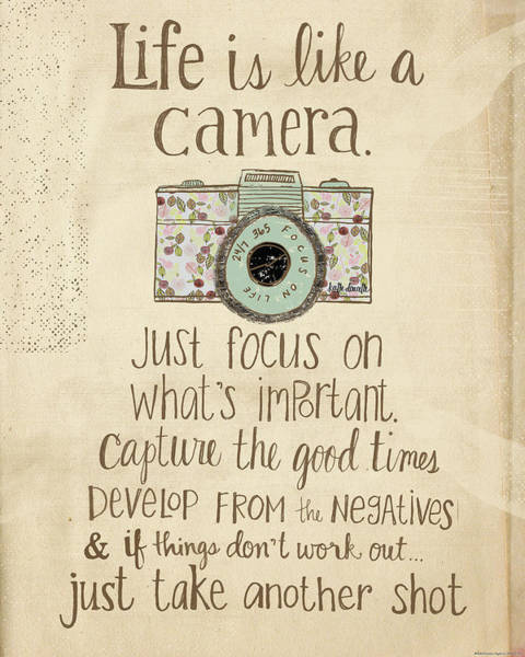 Camera Painting - Life Is Like A Camera by Katie Doucette