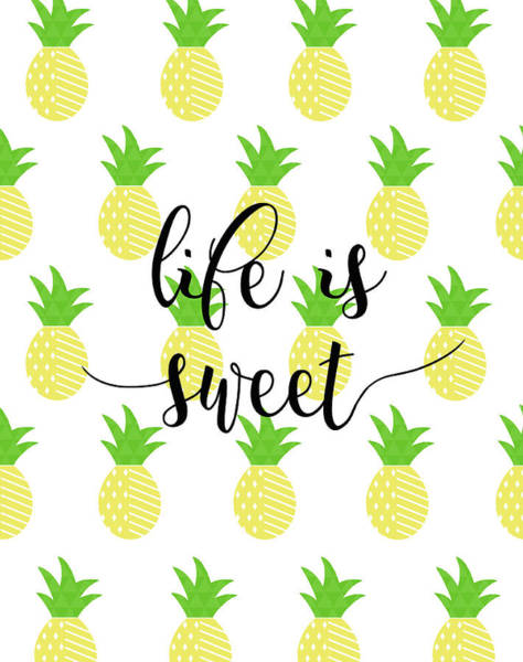 Fruit Wall Art - Painting - Life Is Sweet - Pineapple by Anna Quach