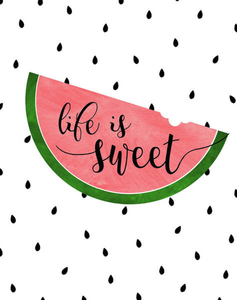 Summer Fun Wall Art - Painting - Life Is Sweet - Watermelon by Anna Quach