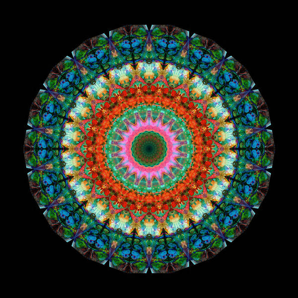 Om Wall Art - Painting - Life Joy - Mandala Art By Sharon Cummings by Sharon Cummings
