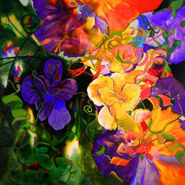 Protein Painting - Life Of Flowers by Georg Douglas