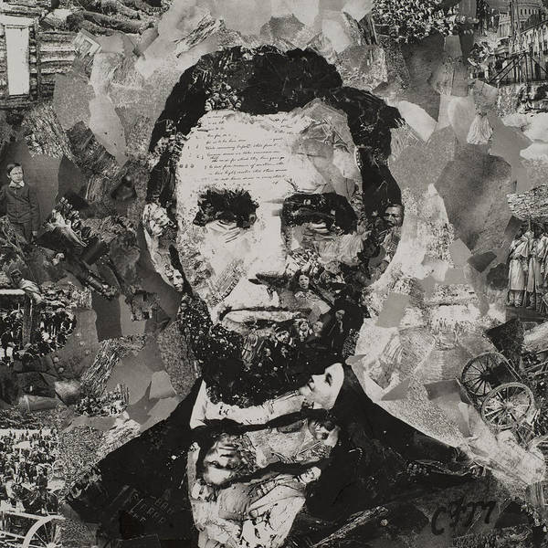 Mosaic Mixed Media - Life Of Lincoln by Claire Muller