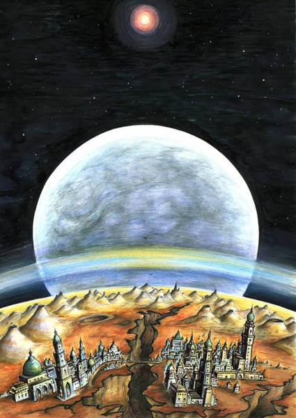 Painting - Life On Mars 2299 - Space Art Painting by Peter Potter