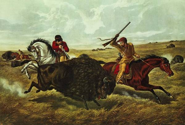 Horseman Wall Art - Painting - Life On The Prairie by Currier and Ives