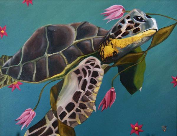 Wall Art - Painting - Life Under The Sea by Victoria Dietz