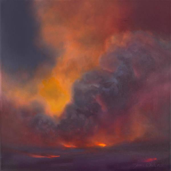 Big Island Painting - Life Within Hawaiian Volcano by Karen Whitworth