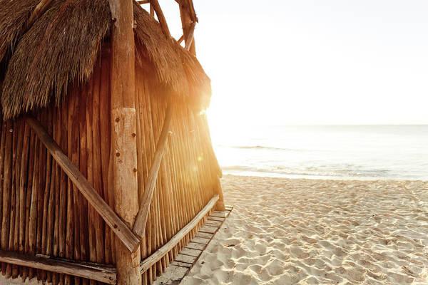 Dawn Photograph - Lifeguard Hut At Dawn by Mmeemil