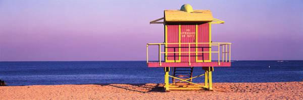 Atlantic Station Photograph - Lifeguard Hut, Miami Beach, Florida, Usa by Panoramic Images