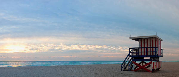 Dade Photograph - Lifeguard On The Beach, Miami by Panoramic Images
