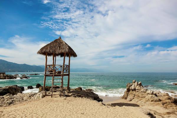 Palapa Wall Art - Photograph - Lifeguard Palapa On The Beach by Debra Brash / Design Pics