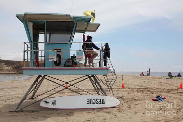 Photograph - Lifeguard Shack At The Santa Cruz Beach Boardwalk California 5d23715 by Wingsdomain Art and Photography