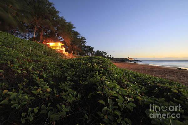 Photograph - Lifeguard Shack Kamaole IIi Beach South Maui Kihei Hawaii by Edward Fielding