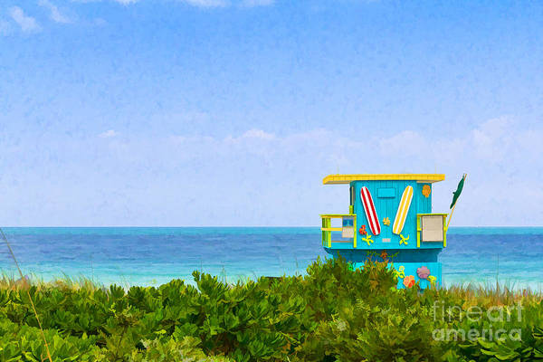 Photograph - Lifeguard Station In Miami by Les Palenik