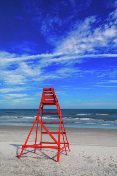 Us State Photograph - Lifeguard Station, Jacksonville  Beach by Diane Macdonald