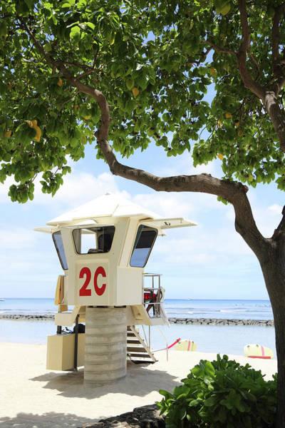 Big Island Photograph - Lifeguard Station, Waikiki,oahu,hawaii by Studiocasper