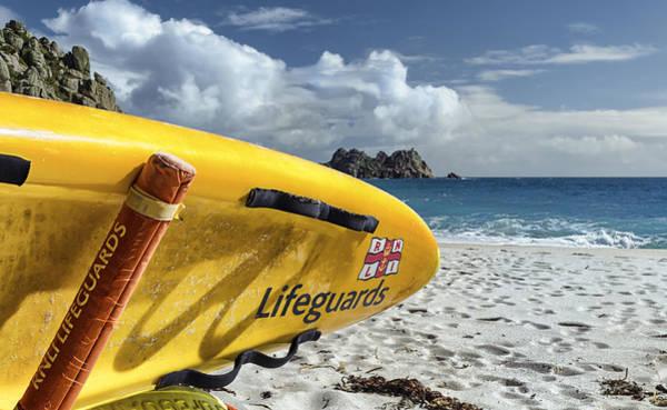 Surfboard In Cornwall Art Print