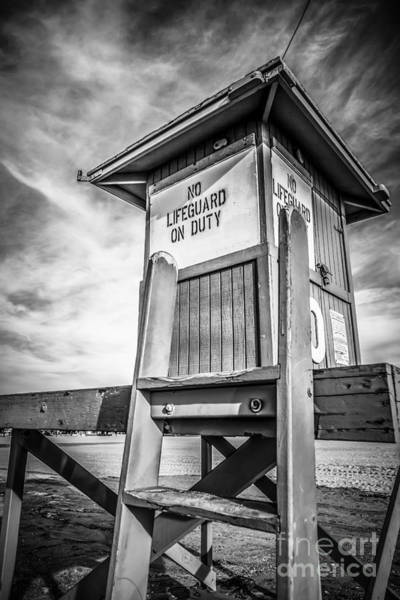 Balboa Photograph - Lifeguard Tower 10 Newport Beach Hdr Picture by Paul Velgos