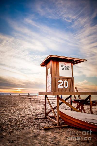 Balboa Photograph - Lifeguard Tower 20 Newport Beach Ca Picture by Paul Velgos