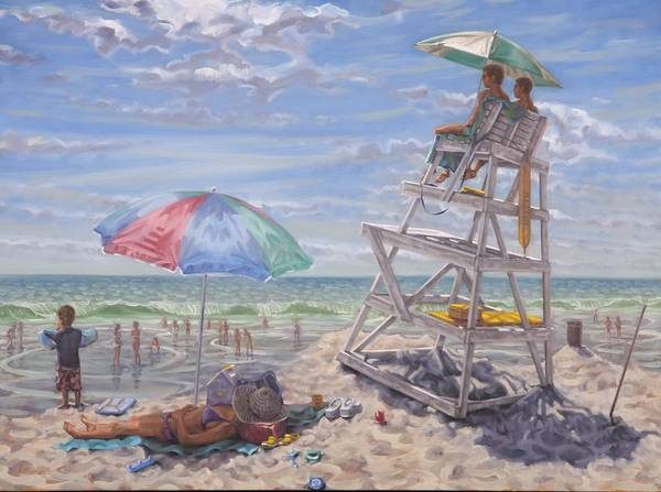 Painting - Lifeguards by Gary M Long