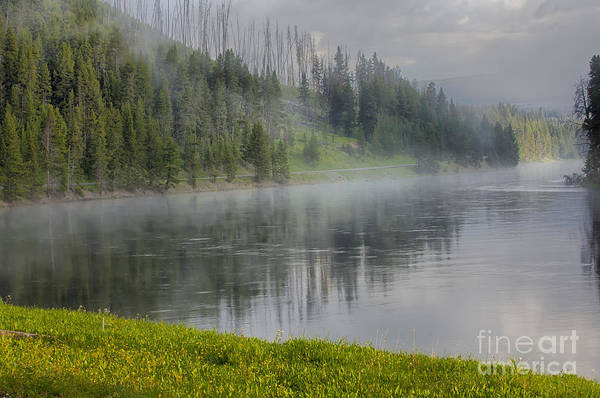 Wall Art - Photograph - Lifting Fog On The Yellowstone River by Sandra Bronstein