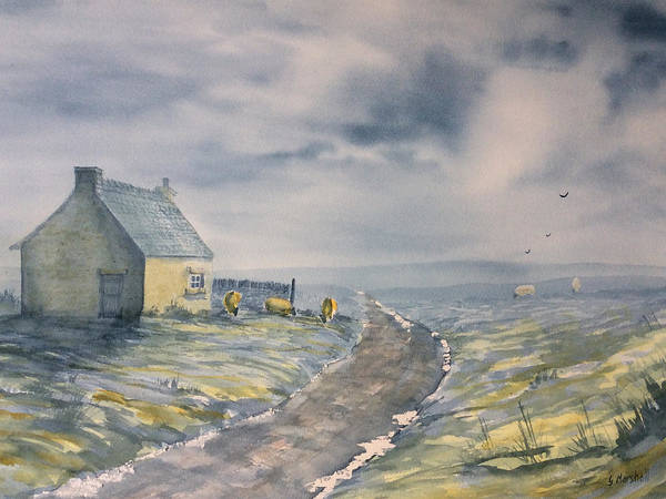 Painting - Lifting Mist At Trough House In Glaisdale by Glenn Marshall
