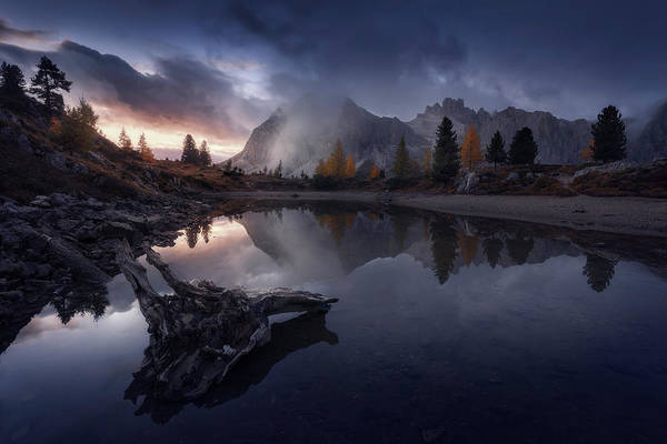 Dolomites Photograph - Lifting The Veil by Stefan Mitterwallner