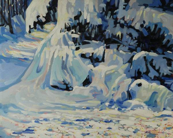 Barn Snow Painting - Light And Fluffy by Phil Chadwick