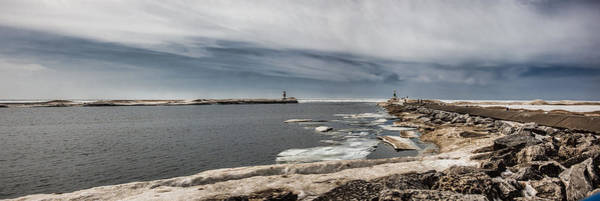 Holland State Park Photograph - Light And Rocks On Ice by John Crothers
