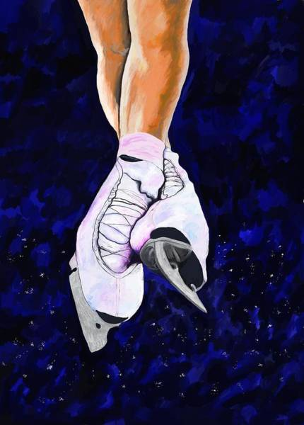 Figure Skating Painting - Light As Air by Jeanne Fischer