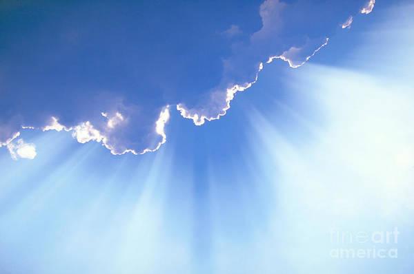 Photograph - Light Beams From Cloud by David N Davis