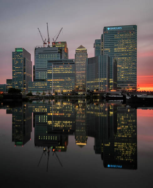 Canary Wharf Photograph - Light Behind That City by Jaymarks Images