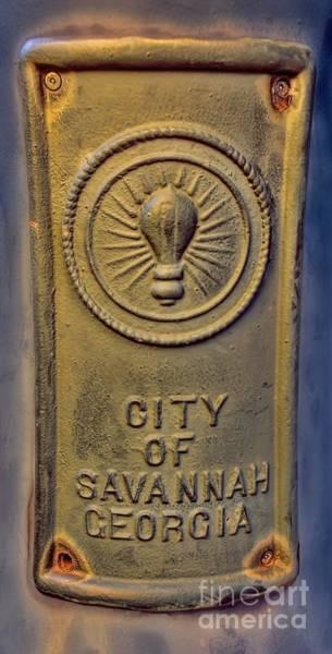 Georgia Power Company Photograph - Light Bulb Emblem Savannah by Henry Kowalski