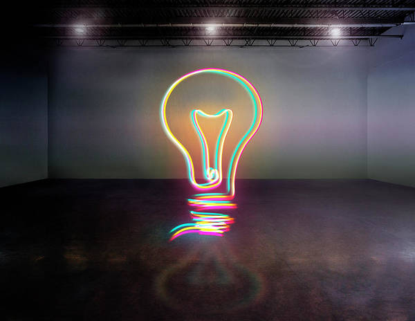 Light Photograph - Light Bulb by Mina De La O