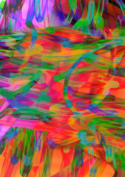 Digital Art - Light Curls by Rick Wicker