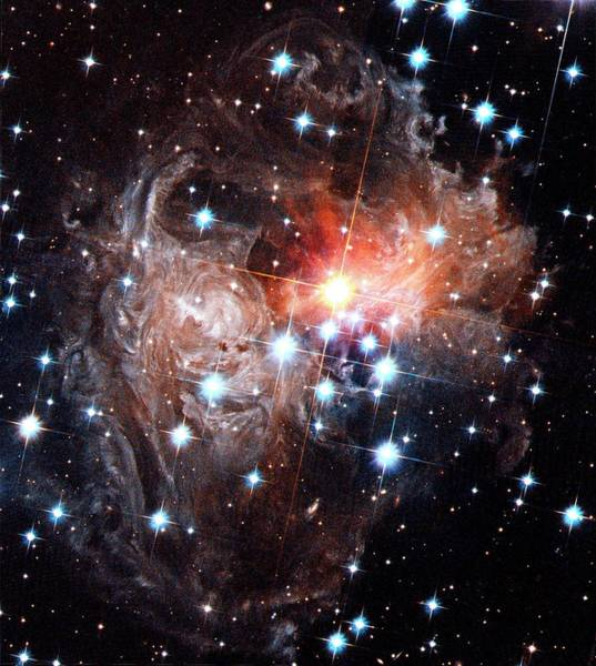 Photograph - Light Echoes Around Star V838 Monocerotis by H. Bondnasaesastsci