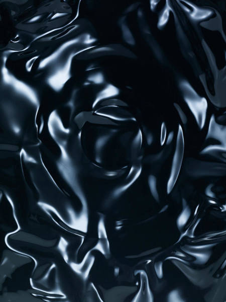 Vitality Photograph - Light Effect On Black Surface by Level1studio