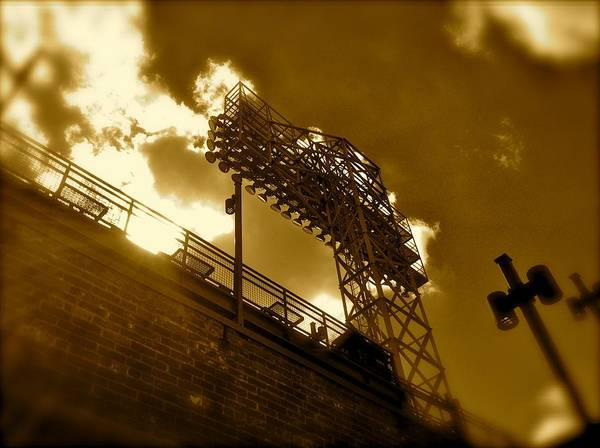 Photograph - Light  Fenway Park by Iconic Images Art Gallery David Pucciarelli