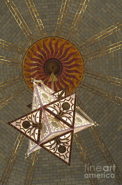 Photograph - Light Fixture In The Memorial Chamber Ne State Capitol by Art Whitton