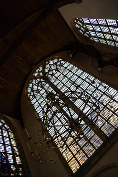 Photograph - Light - Arched Windows And Golden Chandeliers by Georgia Mizuleva