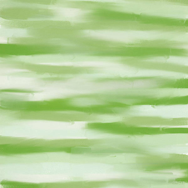 Shades Of Green Painting - Light Green And White by Lourry Legarde