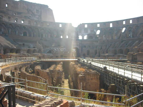 Photograph - Light Inside The Colosseum  by Angela Bushman