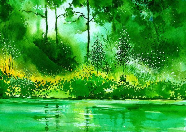 Painting - Light N Greens R by Anil Nene