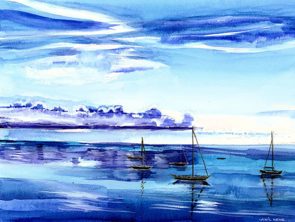 Painting - Light N Water by Anil Nene