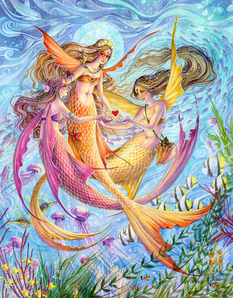 Sealife Painting - Light Of Love by Sara Burrier